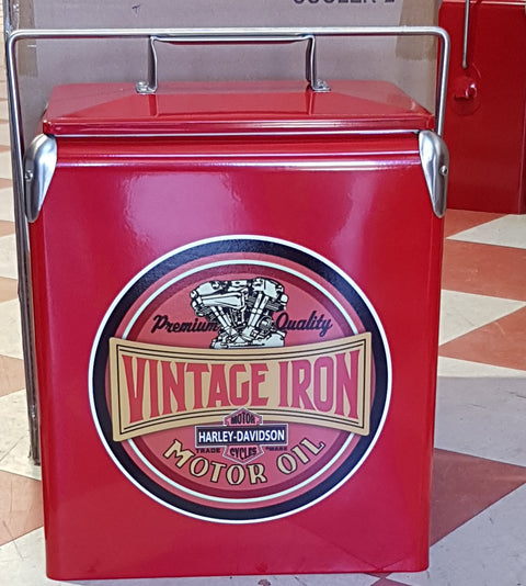 Vintage Iron Cooler Retro