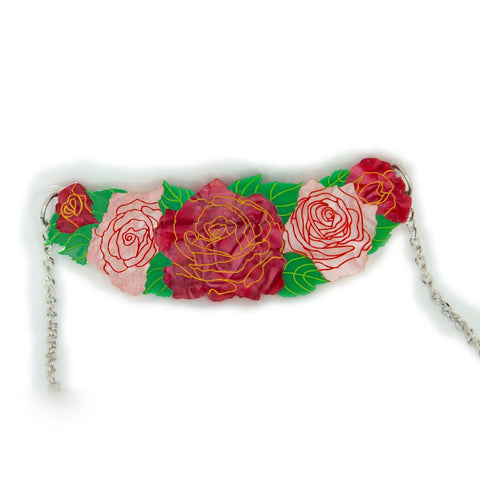 Roses in Bloom Necklace Valentine Daisy Jean