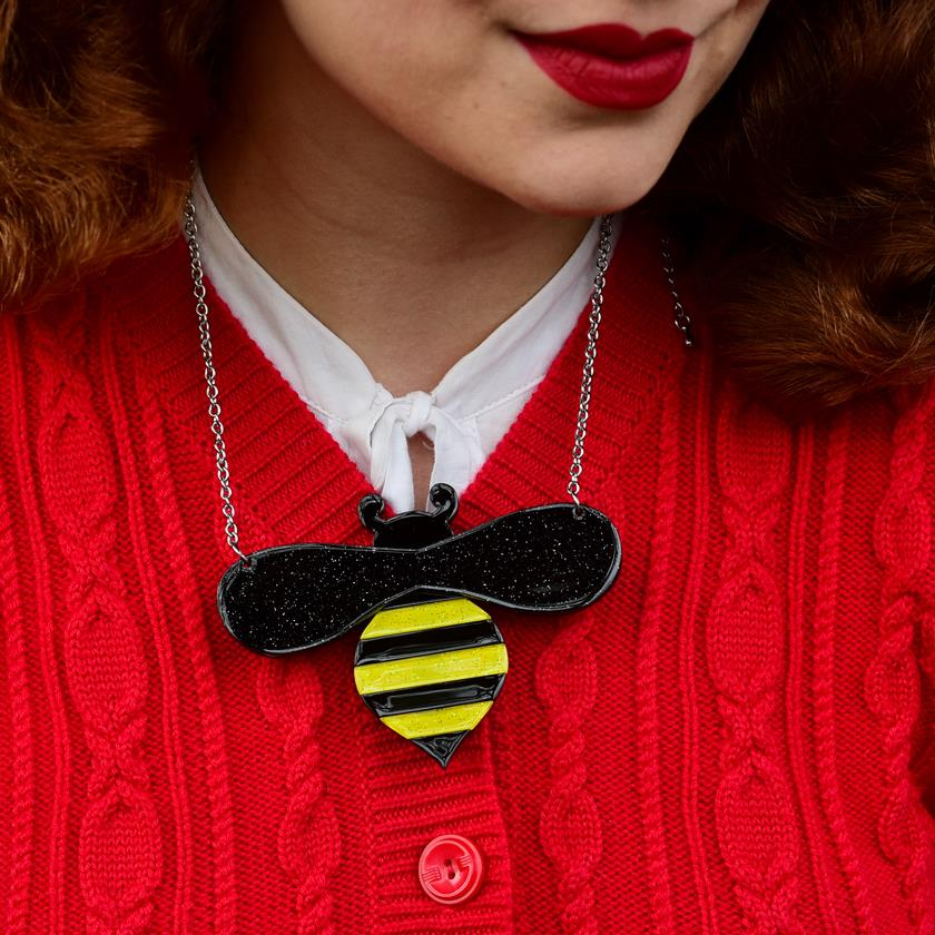 Erstwilder Babette Bee Necklace