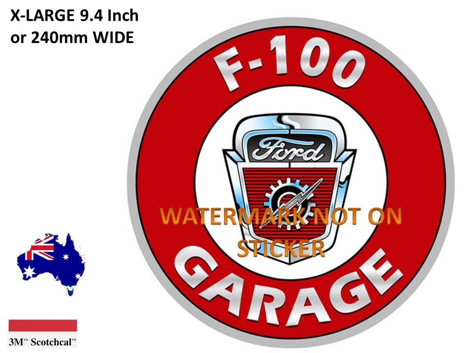 F 100 Garage Sticker