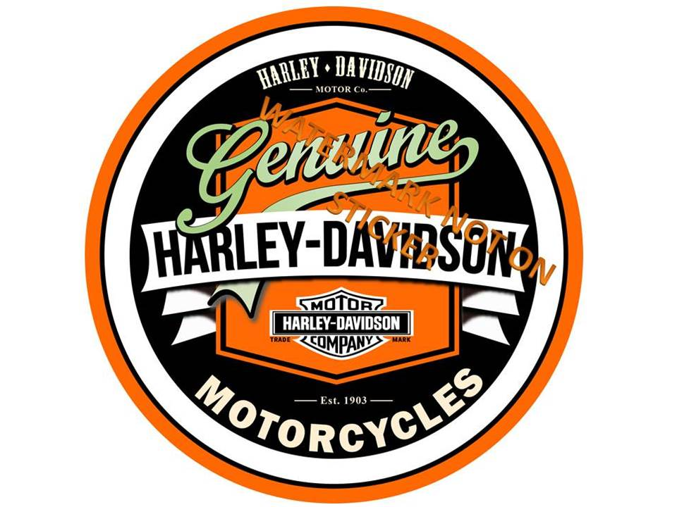 Harley Genuine Motorcycles +Sticker