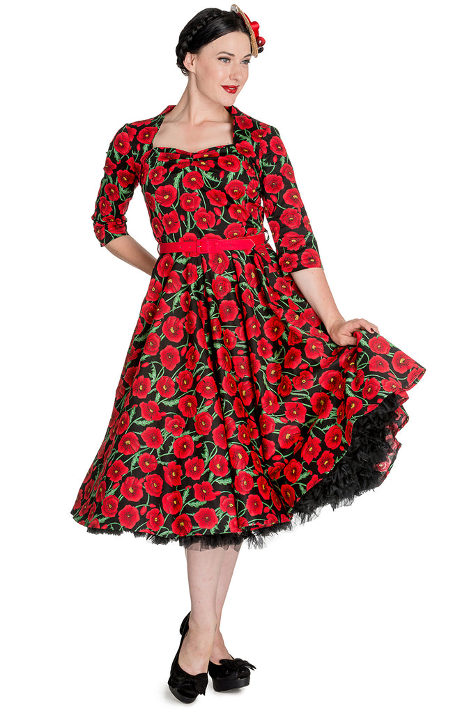 H B Poppy Dress XS--4XL