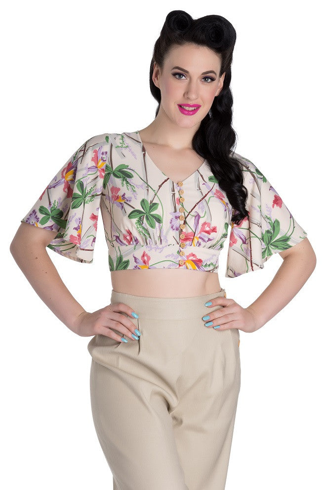 Hell Bunny Bamboo Crop Top