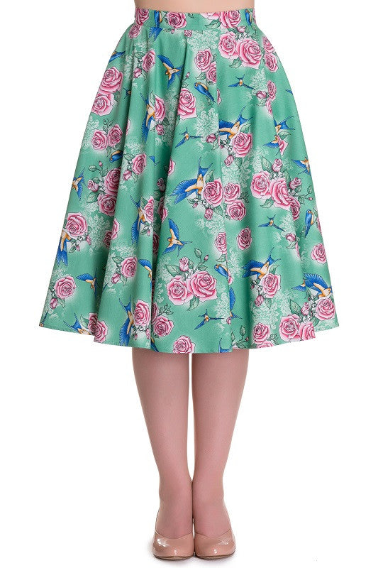 Lacey Blue Bird Skirt Full Circle