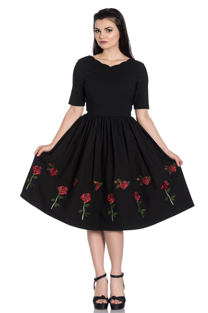 Rosa Rossa 50's dress By Hell Bunny  Reg and Plus sizes
