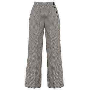 Hell Bunny Jackson  High Waisted Trousers