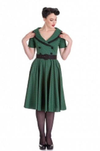 Hell Bunny Mimi Dress Green