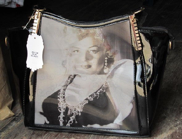 Marilyn Monroe New Faux leather Bag 3 Hologram Pics New