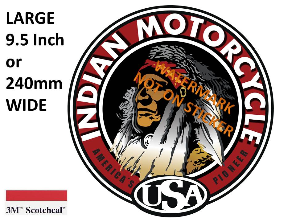 Indian Motorcycles USA Sticker