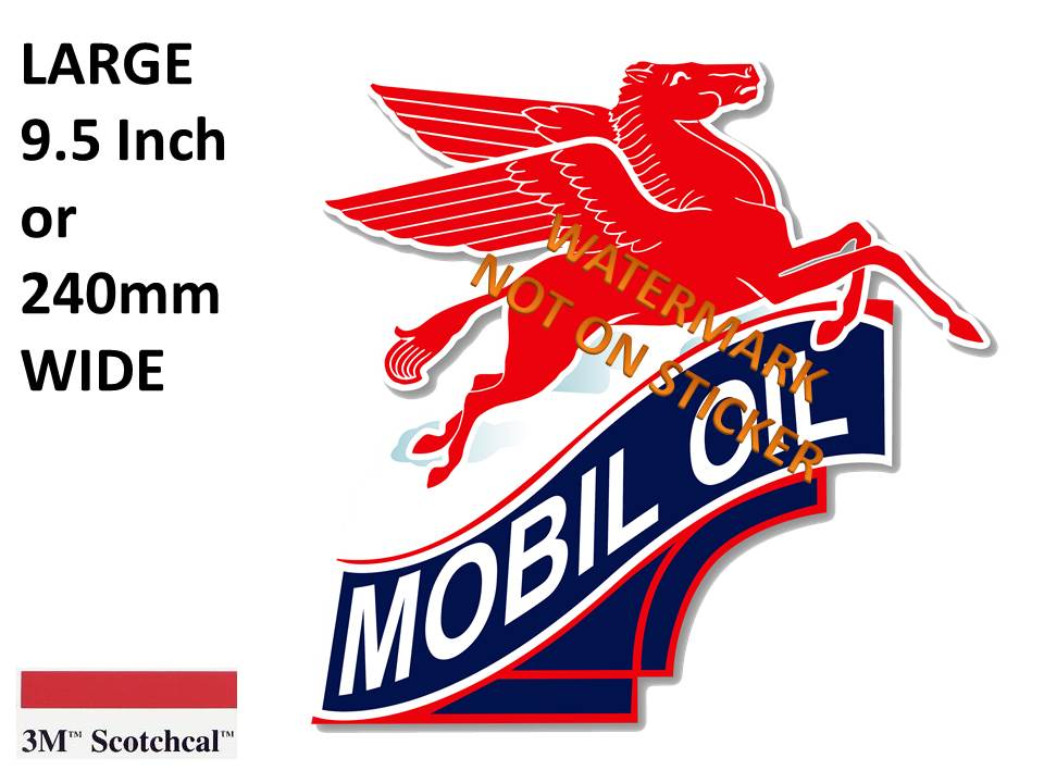 Mobil Oil Sticker