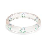 Midi Bluebell Reverse Carved Bangle