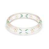 Midi Daisy Reverse Carved Bangle