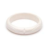 Midi Daisy White Fakelite Bangle