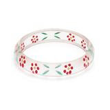 Midi Poppy Reverse Carved Bangle