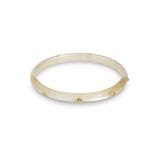 Narrow Champagne Moonglow Bangle