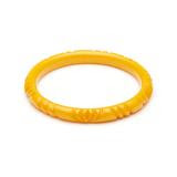Narrow Yolk Heavy Carve Fakelite Bangle
