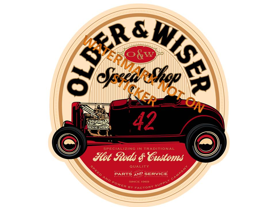 Older Wiser R Sticker