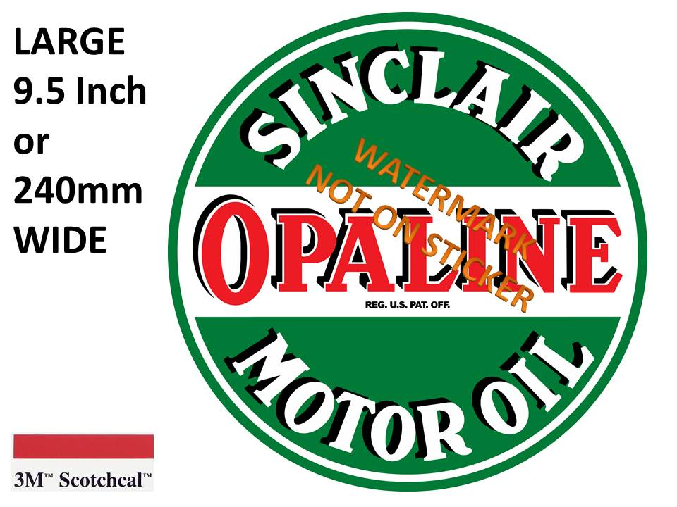 Sinclair Opaline Motor Oil Sticker