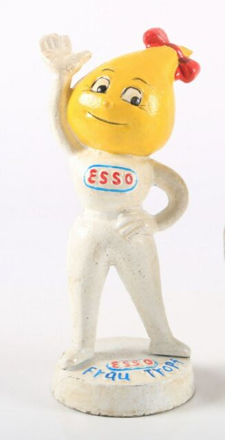 ESSO Girl Mrs Drip Cast Iron Money box FRAU TROPF Yellow