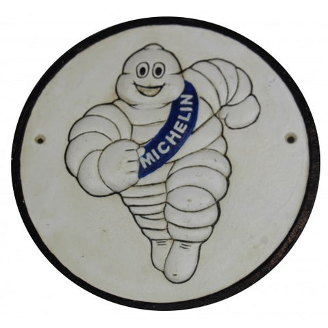Michelin Man Running  Sign Cast Iron