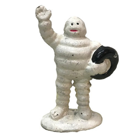 Michelin Mini Man Waving Cast Iron