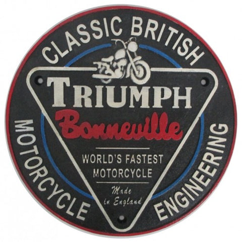 Triumph Sign Cast Iron