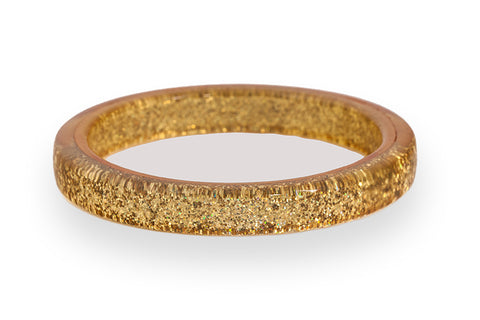Pale Gold Glitter Bangle Regular
