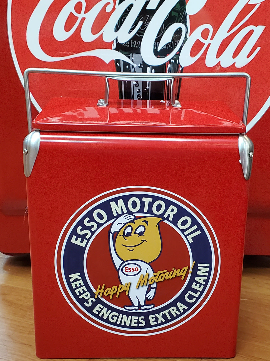 Retro Ice Cooler Esso Motor Oil