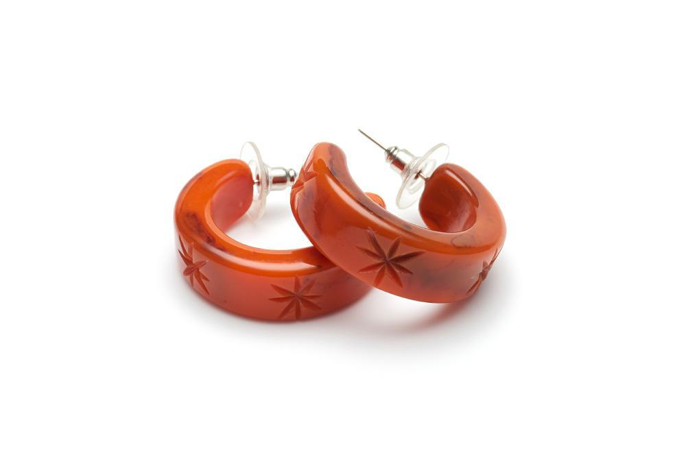 Fox Fakelite Hoop Earrings
