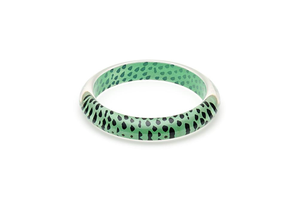 Mint Leopard Print Bangle Duchess