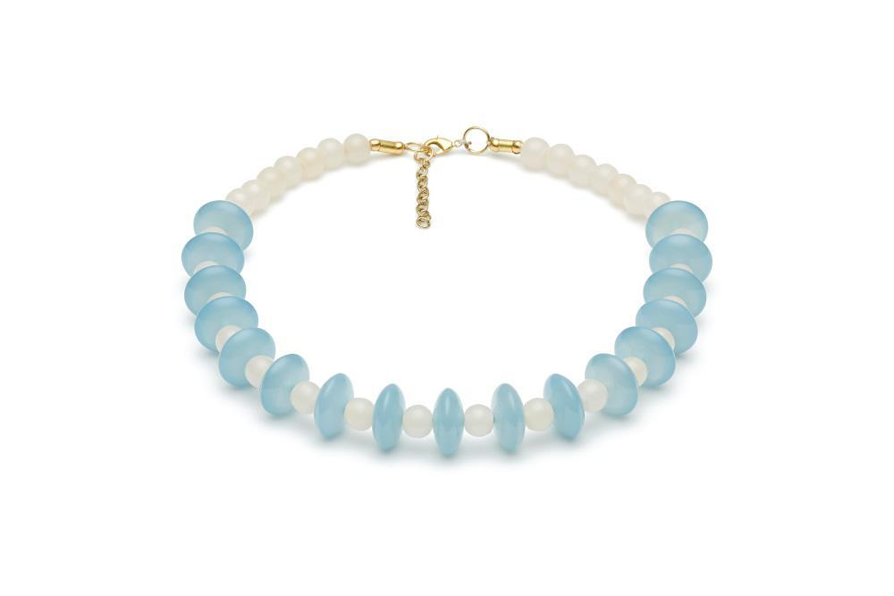 Frosty Fakelite Bead Necklace