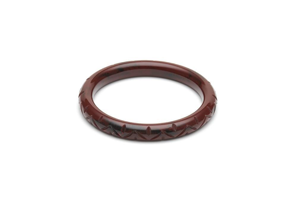 Narrow Mouse Fakelite Bangle Regular