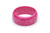 Wide Candy Pink Fakelite Maiden Bangle