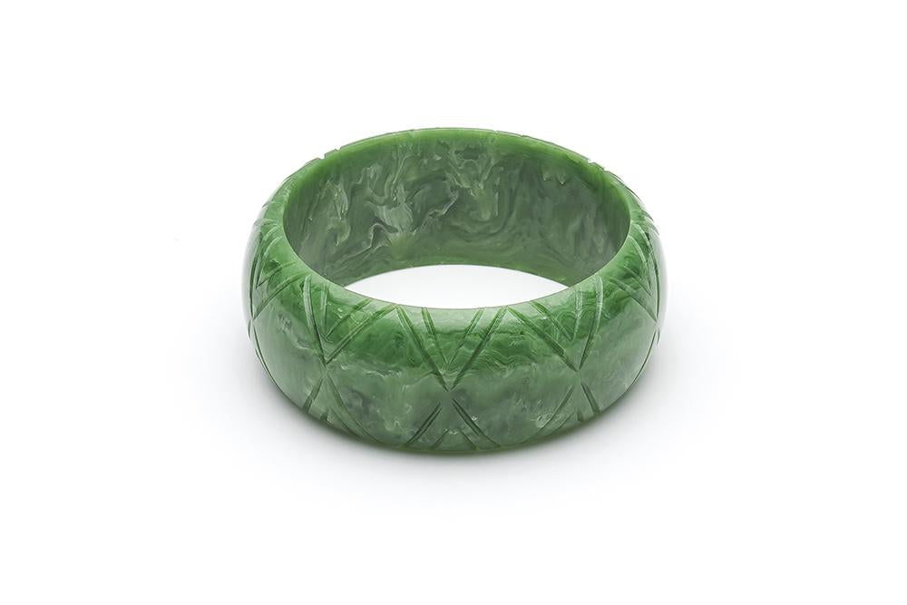 Wide Sage Fakelite Duchess Bangle