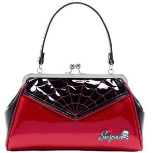 Web backseat Baby Red Purse Hand bag