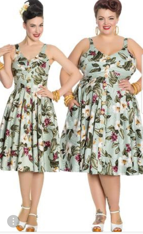 Tahiti Dress By Hell Bunny