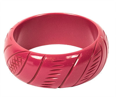 Wide Berry Fakelite Bangle