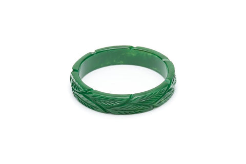 Midi Forest Heavy Carve Fakelite Bangle