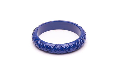 Midi Indigo Heavy Carve Fakelite Bangle Regular