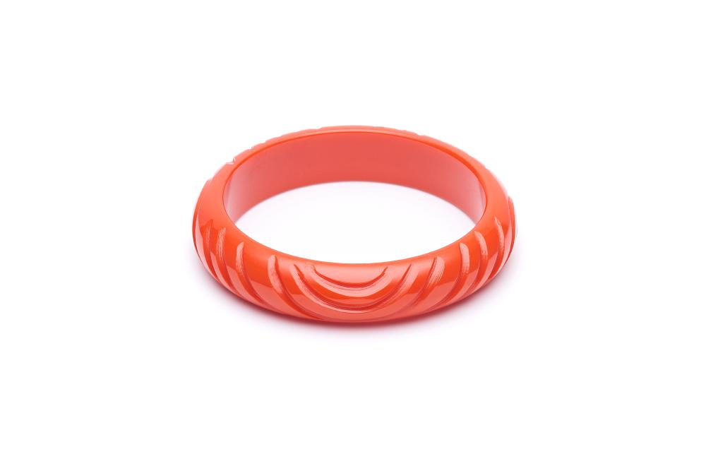 Midi Papaya Heavy Carve Fakelite Bangle Regular
