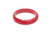 Midi Red Heavy Carve Duchess Bangle
