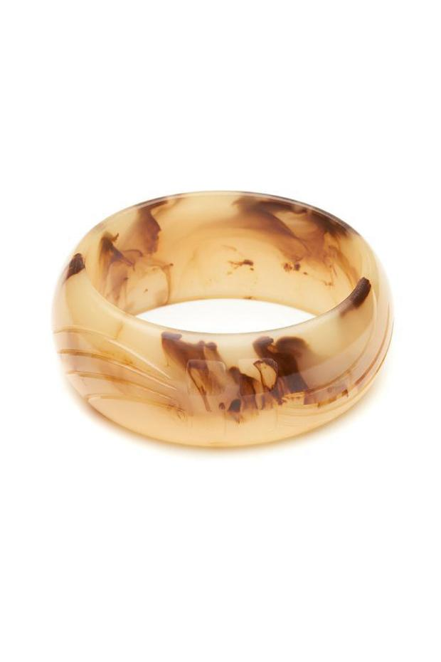 Wide Chocolate Creme Fakelite Bangle