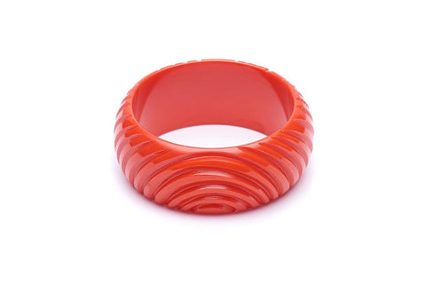 Wide Papaya Heavy Carve Bangle Regular