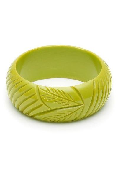 Wide Chartreuse Fakelite Bangle Duchess