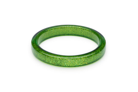 Leaf Green Glitter Bangle