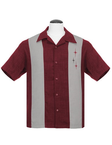3 Star Panel Shirt Burgundy