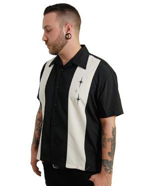 3 Star Panel Shirt Black by Steady