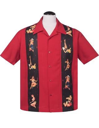 Pin Up Babe Shirt in RED