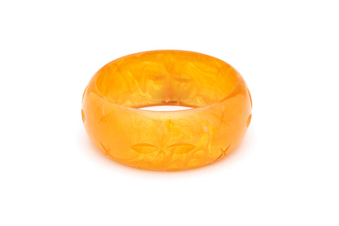 Wide Butterscotch Fakelite Bangle