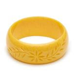 Wide Marigold Fakelite Duchess Bangle